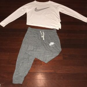 Nike sweat suit set